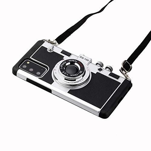 WEENOO New Emily in Paris Phone Case Vintage Camera,Compatible for Huawei P30/Pro Mate30/ Mate30Pro Modern 3D Vintage Style Camera Design Silicone Cover with Long Strap Rope (for P30)