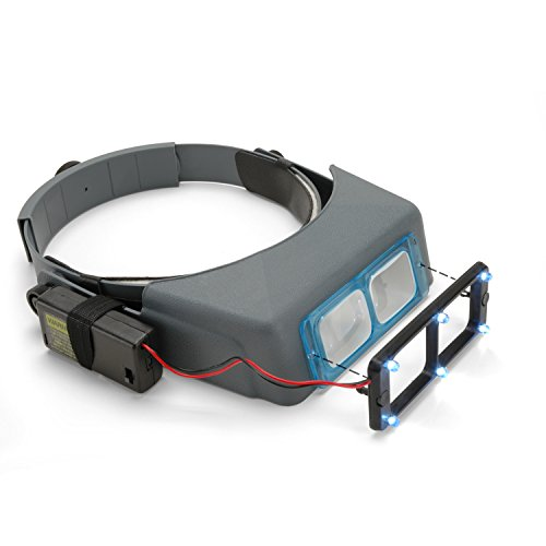 OptiVISOR Headband Magnifier, with Quasar LS Lights