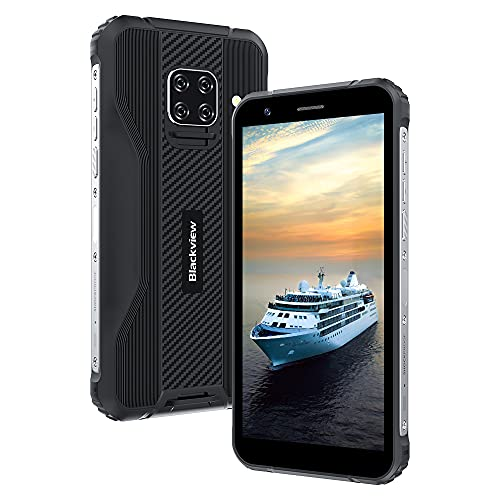 Móvil Resistente, IP69K Blackview BV5100 Android 10 con Pantalla 5.7'' HD+ IPS, 4GB+128GB MT6762 Octa-Core Móvil Libre Antigolpe, Dual 4G con Cámara Cuádruple 16MP+13MP, Batería 5580mAh NFC/GPS