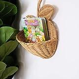NKLL Cuscino Sedia Forma del Rattan di Apple Bagagli Carrello a Mano di Frutta Naturali Organizzatore Baby Room Nursery Decoration Woven Organizzatori Home Decor Parete Vaso