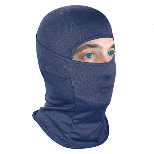 Achiou Balaclava Face Mask UV Protection for Men Women Ski Sun Hood Tactical Masks Navy