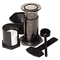 Rapid, total immersion brewing process makes delicious full flavored coffee without bitterness! Makes 1 to 3 cups per pressing in about one minute! Brews both American style coffee and Espresso! The microfilter means no grit in your cup (unlike a Fre...