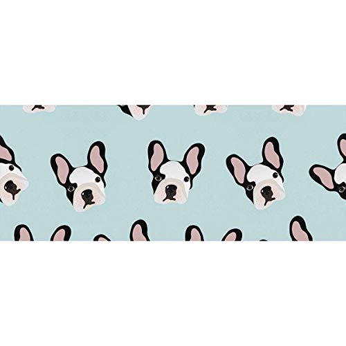 InterestPrint Small French Bulldogs Wrapping Paper for Wedding, Birthday, Shower, Congrats 2 Rolls
