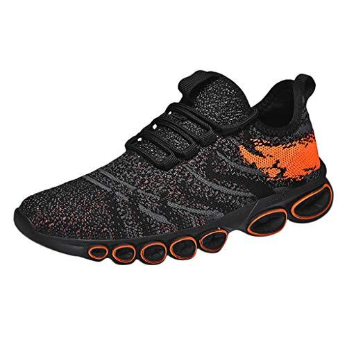 TWISFER Herren Walkschuhe Laufschuhe Ultraleichte Flyknitted Trainer Schuhe Atmungsaktive Freizeitschuhe Sportschuhe Sneaker