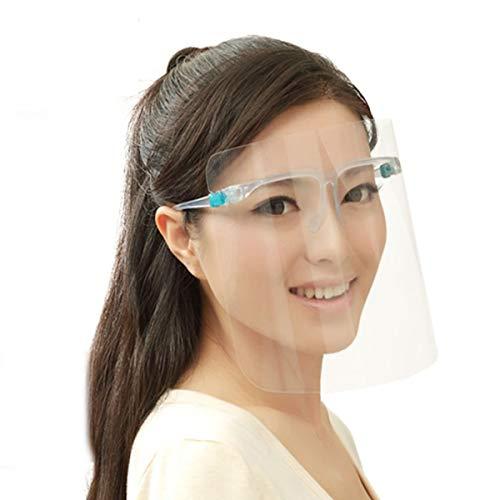 Joseko - Protector facial, gafas protectoras con protección contra el polvo, protector contra saliva transparente, Transparente, without box-package