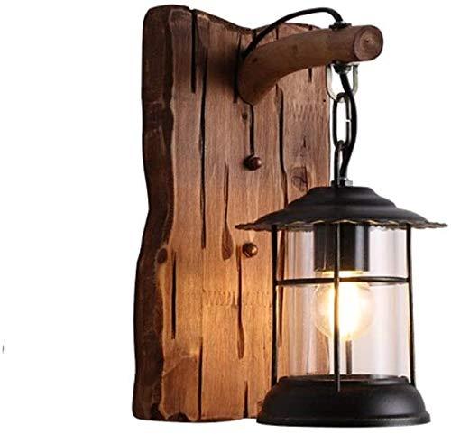 HDDD Lámpara de pared de madera maciza, creativa, personalidad, bar, restaurante, barco, pasillo, dormitorio, mesita de noche, espejo, lámpara de mesa, baño, dormitorio, ropa, lámpara de pared
