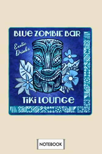 Blue Zombie Notebook: Journal, Diary, Lined College Ruled Paper, Planner, 6x9 120 Pages, Matte Finish Cover