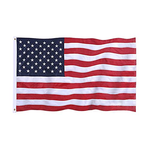 Jetlifee American Flag 3x5 Ft Embroidered Stars Sewn Stripes Brass Grommets US Flag Outdoors Indoors USA Flags Polyester 3 x 5 Foot
