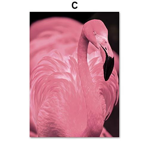 zxddzl Rosa Flamingo wandkunst leinwand malerei Poster und Druck wohnkultur wandmalerei 7 60 * 80 cm