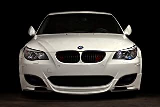 Driver Motorsports Poster of BMW E60 M5 White Front HD 48 X 32 Inch Print