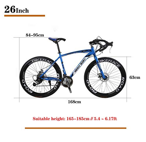Road Bikes ZTYD 26-Inch Road Bicycle, 27-Speed Bikes, Double Disc Brake, High Carbon Steel Frame, Road Bicycle Racing, Men's And…