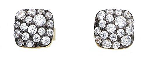 Joop! Damen-Ohrstecker JP-M PAVE Ohrring 925 Silber teilvergoldet Zirkonia weiß-JPER90362E000