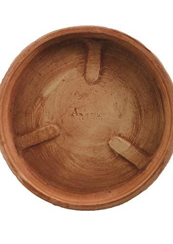 Untersetzer Teller für Pflanzgefäße Verschiedene Größen -Italienisches Terrakotta- ABSOLUT FROSTFEST Handarbeit (37cm)