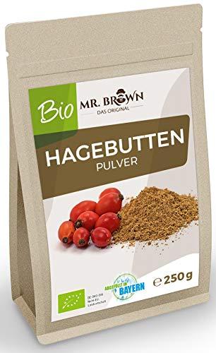 Mr. Brown Das Original BIO Hagebuttenpulver 250 Gramm | natürliches Vitamin-C | biologisch | feines Pulver abgefüllt in Bayern