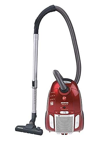 Hoover TE 75 Traino con Sacco Telios Plus, Sacco con capacità da 3,5 litri, 700 watt, Rosso, 66 dB[Classe di efficienza energetica A]