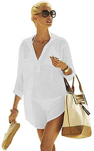 Yuson Girl Mujer Ropa De Playa Suelto Pareo Largo Verano Pareo Playa Mujer Tallas Grandes Pareo Vestido Mujer Camisa Grande De Playa Pareo Bikini Cover Up Pareo Transparente Gasa