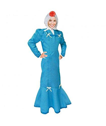 Disfraz Chulapa Mujer Azul Lunar Blanco (L)