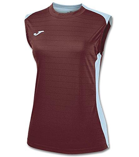 Joma 900246.672 - Camiseta de equipación Tirantes Mujer, Color Burdeos/Azul Celeste, Talla S