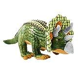 Beppe Peluche grande Dino XXL ideal como regalo de dinosaurio triceratops, bonito peluche para niños y bebés, cojín de animal
