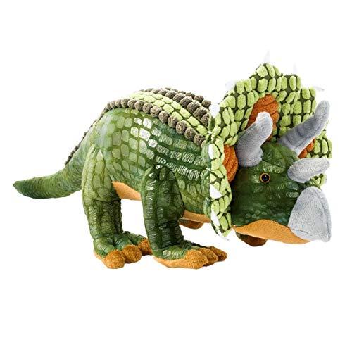 Beppe Plüschsaurier Grosses Plüschtier Dino XXL ideales Stofftier Geschenk Dinosaurier Triceratops niedliches Kuscheltier für Kinder und Baby Plüschkissen Tier Kissen Auflage