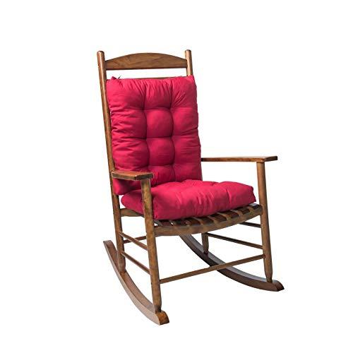 HSD Cojín para banco o columpio, cojín suave con fijación fija, cojín largo rectangular para balancín, tumbona para muebles de jardín, patio o lounger, para interiores (D)