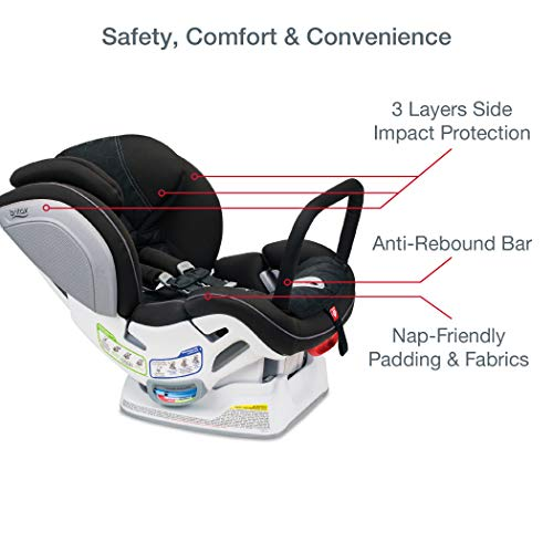 Britax Advocate ClickTight Anti-Rebound Bar Convertible Car Seat | 3 Layer Impact Protection - Rear