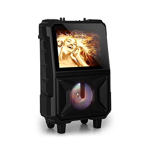 auna CenterStage 8 Altavoz de Karaoke portátil - Equipo de Karaoke , Karaoke , Bluetooth , Batería Recargable , 40 W RMS , USB , MicroSD , Pantalla 14,1