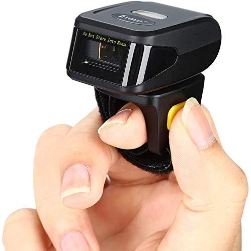 Eyoyo 1D Escáner de Código de Barras de Anillo, Mini Lector de Código de Barras Portátil Inalámbrico Bluetooth para Windows, MacOS, iOS y Android, etc.(EY-R30)