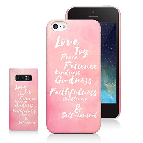 Sleeky Case Compatible LG V30 Case Love Joy Peace Fruit of Holy Spirit Watercolor Pink Bible 3D Case