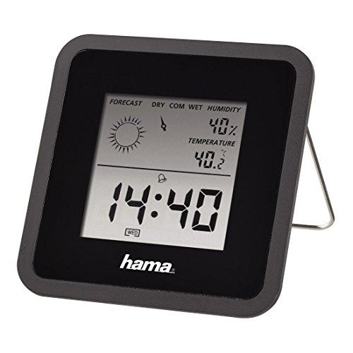 Hama Wetterstation (mit Uhr, Wecker und Wettervorhersage) schwarz