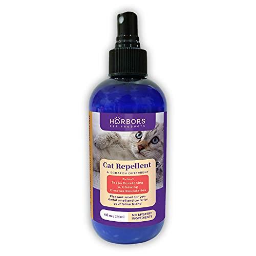 Harbors Cat Repellent and Trainer - Cat Repellent Spray Indoor - 8 oz | Cat Training Spray | Cat Repellent for Furniture | Cat Repellent for Plant |...