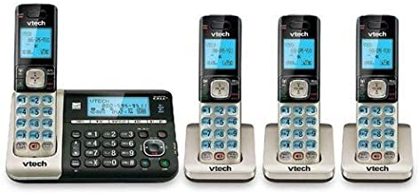 VTech DS6752-4 4-Handset DECT 6.0 Cordless Phone with Bluetooth Connect to Cell, Digital Answering System and Caller ID, E... photo