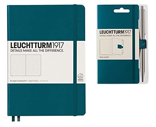 Leuchtturm1917 - Cuaderno de tapa dura A5 con puntos, color verde Pacífico