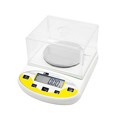CGOLDENWALL Balanza de Precisión Eléctrica 3000g, 0.01g Báscula Digital con Funciones de Autocorrección Memoria Y Más Ideal para Lab Cocina Joyería丨Ya Calibrada y Lista para Usar丨 (3000g, 0.01g)