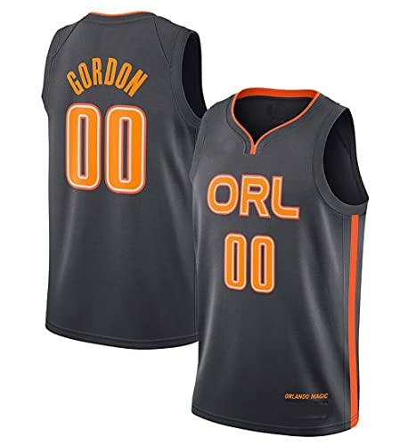 Hombre Jersey,NBA Magic Team n#00 Gordon Ropa de Baloncesto,Camisetas Al Aire Libre Casual Mujer Redondo CháNdales,Black,XL