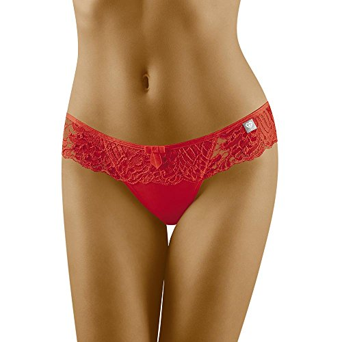 Wolbar Damen Slip 3503 Limited Edition Diamant, Rot,Medium
