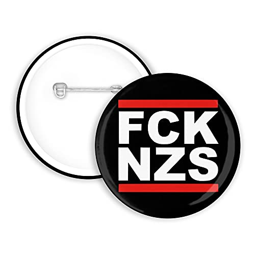 3x FCK NZS Button 25mm Kein Mensch ist illegal