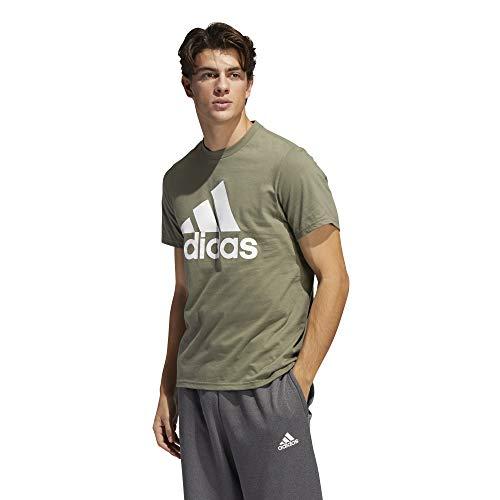 adidas Men's Badge of Sport Tee, Legacy Green, Large