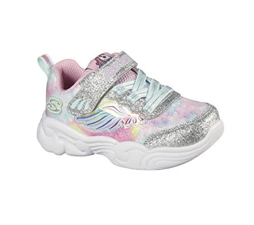 Skechers Mädchen Unicorn Storm Sneaker, Silber, 37 EU