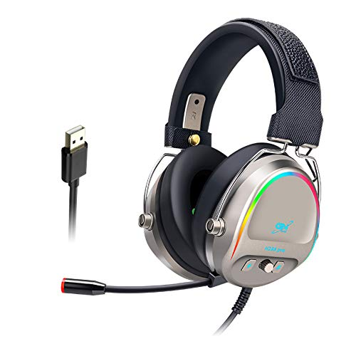 LVOD GH288 Gaming Headsets Gamer USB7.1 Surround Sound Stereo RGB Light Game Wired Headphones