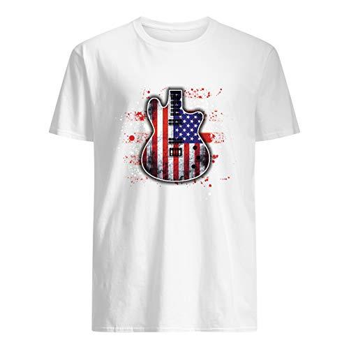 ShingoC Ltd Guitarra eléctrica bandera americana camiseta