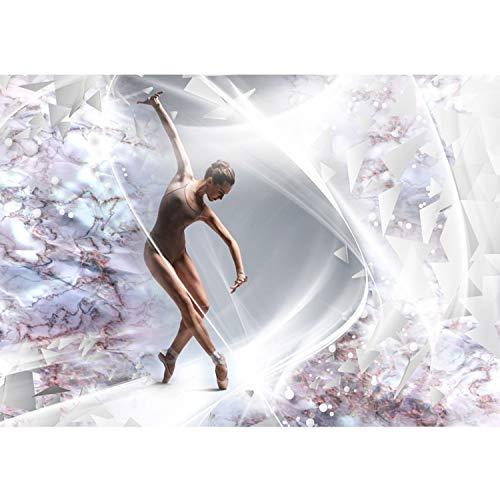 Vlies Fototapete PREMIUM PLUS Wand Foto Tapete Wand Bild Vliestapete - Frau Tanzen Ballett Keramik Elemente - no. 2518, Größe:254x184cm Vlies