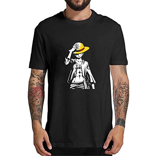 Camiseta One Piece, 3D Luffy Zoro Ace Anime Cosplay T-Shirt Moda Harajuku Camiseta Anime One Piece Manga Corta Camisetas Ropa Camisa Deportiva Sudadera Tops para Hombre Mujere Niños (0B5,XXL)