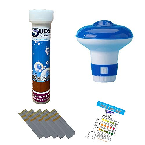 SUDS-ONLINE Small Dispenser with 10 Multifunctional Chlorine Tablets 20g +...