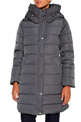 ESPRIT Collection Damen 099EO1G003 Mantel, Grün (Dark Teal Green 375), Medium (Herstellergröße: M)