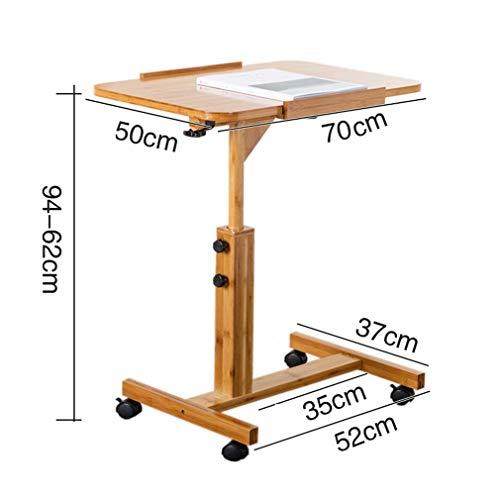 Klapptisch Lazy Table Up/Down Bambus Laptop Schreibtisch Tisch Schreibtisch Bewegen Nachttisch Klapptisch Mit Roller, L