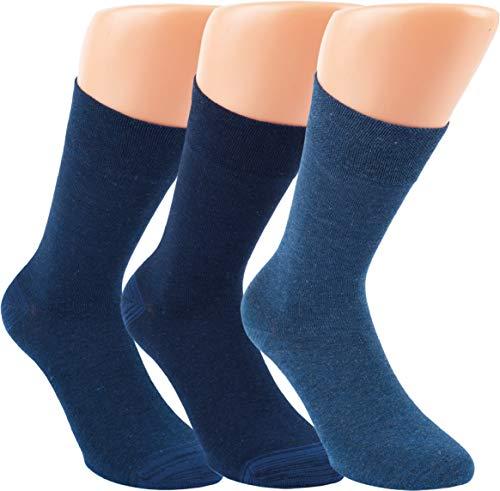 by Riese 3-15 Paar Bambus Socken MELANGE Bambussocken Softrand ohne Gummi Damen Herren Jeans (3, 39/42)