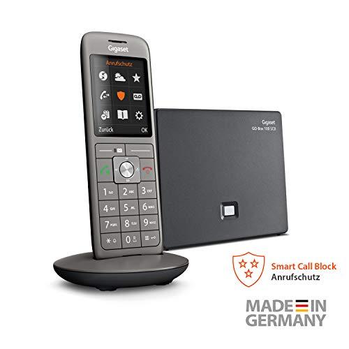 Gigaset CL690A SCB Schnurlos Telefon mit intelligentem Anrufschutz - blockiert Werbeanrufe, Meinungsumfragen uvm - 3 Anrufbeantworter - für Fetznetz und Internettelefonie - Dect, anthrazit