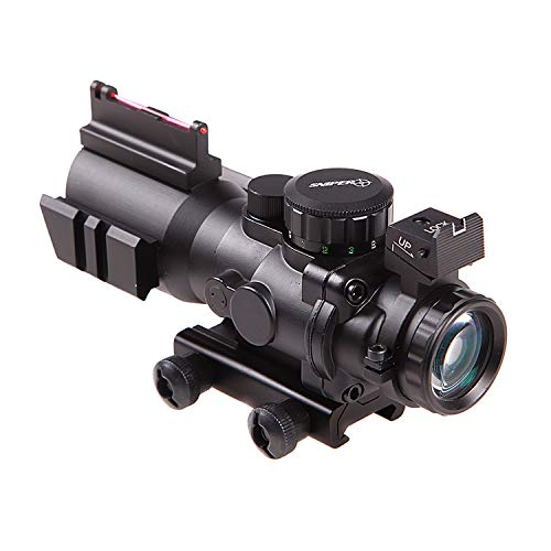 Sniper 4x32 Prismatic Glass Crosshair Reticle Scope w/ Fiber...