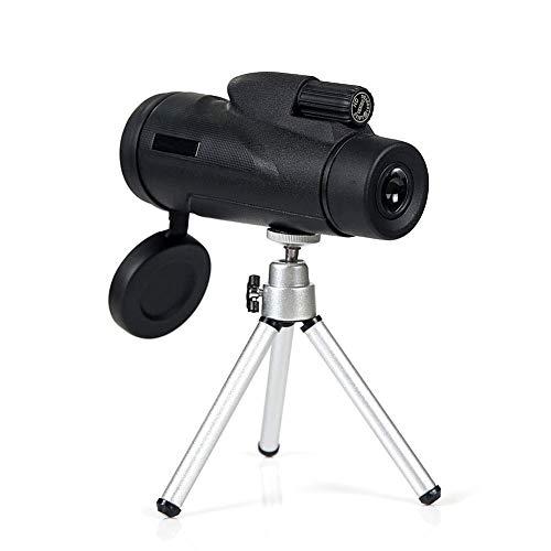 H&1 HD Telescopio Telescopio monocular 12x50, Lente BAK4 Prism FMC de Alta Potencia, Alcance Impermeable con Adaptador para teléfono Inteligente, Soporte para trípod
